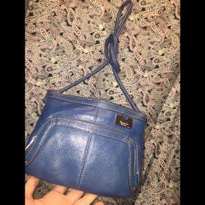 Tignanello's Blue Leather Crossbody Bag